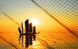 【淮安图片】古朴的洪泽湖帆影