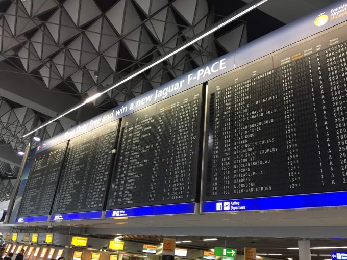 科隆没有飞机场,乘车又到法兰克福飞往雅典