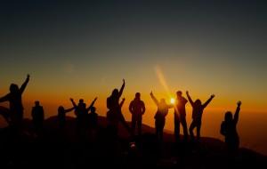 【方山图片】曙光,一抹阳光打开新希望——记CQU广东校友会户外俱乐部元旦四方山徒步
