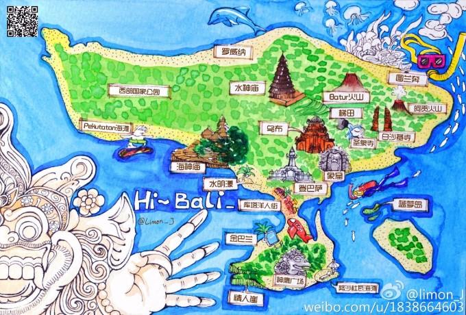 龙目海峡世界地图