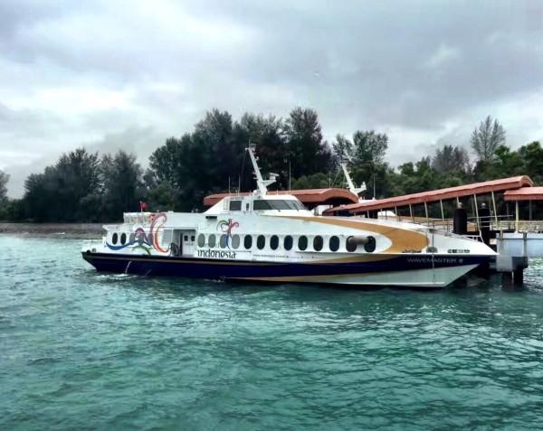 新加坡,所以办理入境手续时只需填写民丹岛为目的地