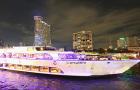 曼谷 夜游湄南河 大珍珠号豪华游轮(限量顶层好位+浪漫烛光自助晚餐)