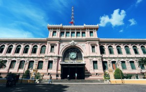 胡志明市景点-胡志明市中心邮政局