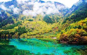 【阿坝图片】神山圣水的九寨,你与日月同辉