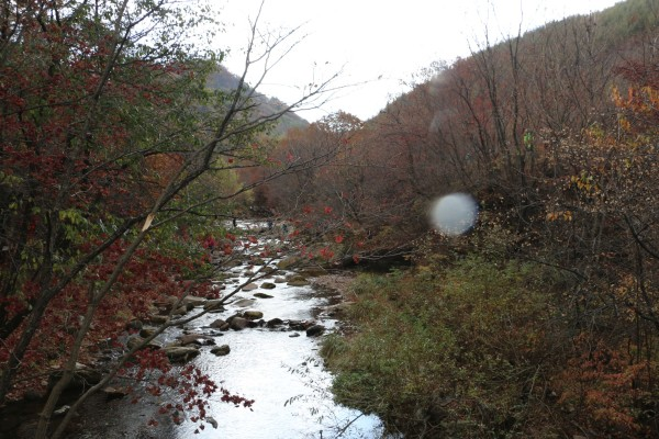 老边沟 一场秋雨后,一轴淡雅的水粉画卷