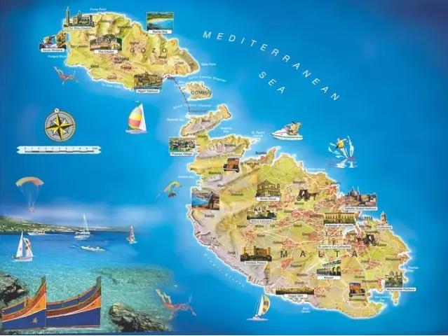 三岛中,马耳他主岛就接近250平方公里的面积,其余的戈佐岛为67平方