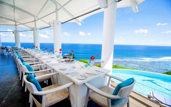 【巴厘岛海景下午茶】卡玛别墅悬崖海景下午茶(奢华酒店,无敌海景