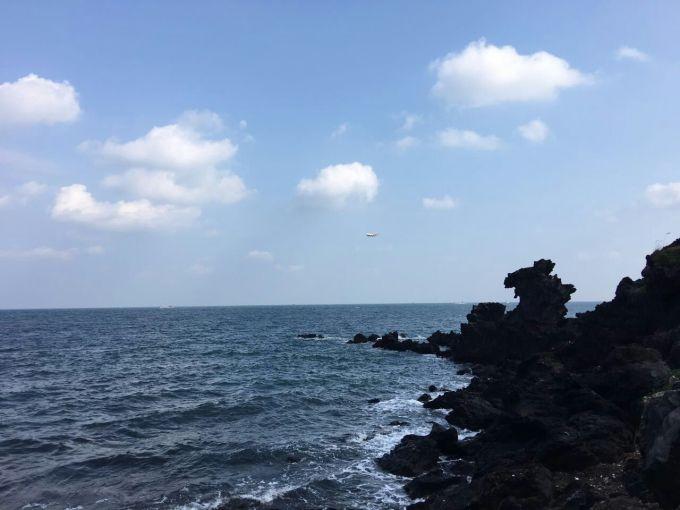 按照计划,我们抵达济州岛后,是9点下船,17点就得回船上.