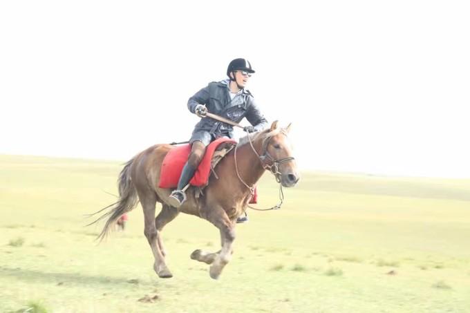 将军骑马出征 手绘