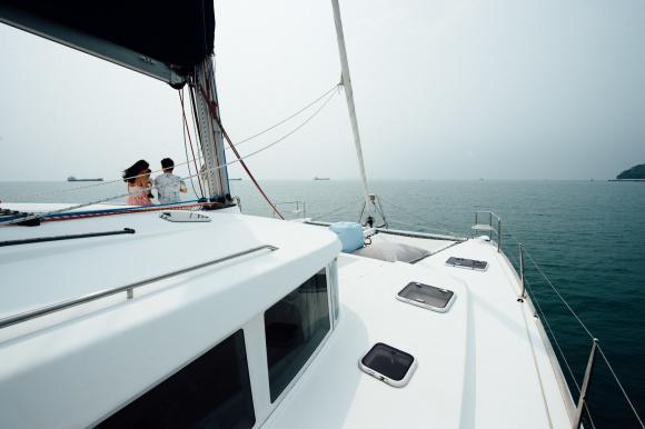 泰国普吉岛豪华双体帆船蜜月岛寻海豚一日游b10/b14 vip (含芭东/卡伦
